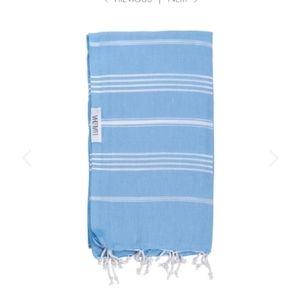 NEW Sky Blue Striped Luxury Turkish Towel or Wrap